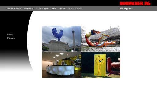 Bildschirmfoto Webdesign M Horlacher AG – Fiberglass
