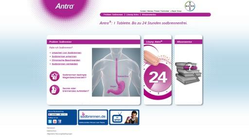 Bildschirmfoto Webdesign XL Bayer HealthCare – Losec Pro Globale Website und Länderseiten