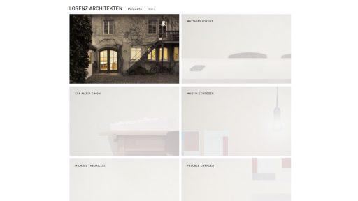 Bildschirmfoto Webdesign M Lorenz Architekten – Architekten-Website Büro