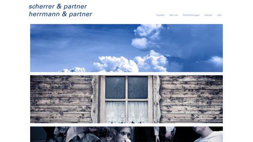 Bildschirmfoto Webdesign M Scherrer und Partner Einstiegsseite