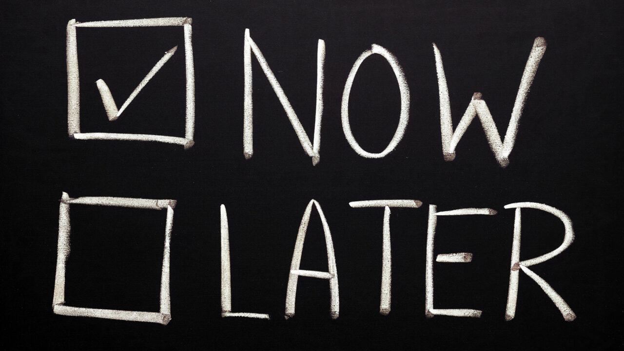 Emblem für Beratung und Konzeption «Now Later»