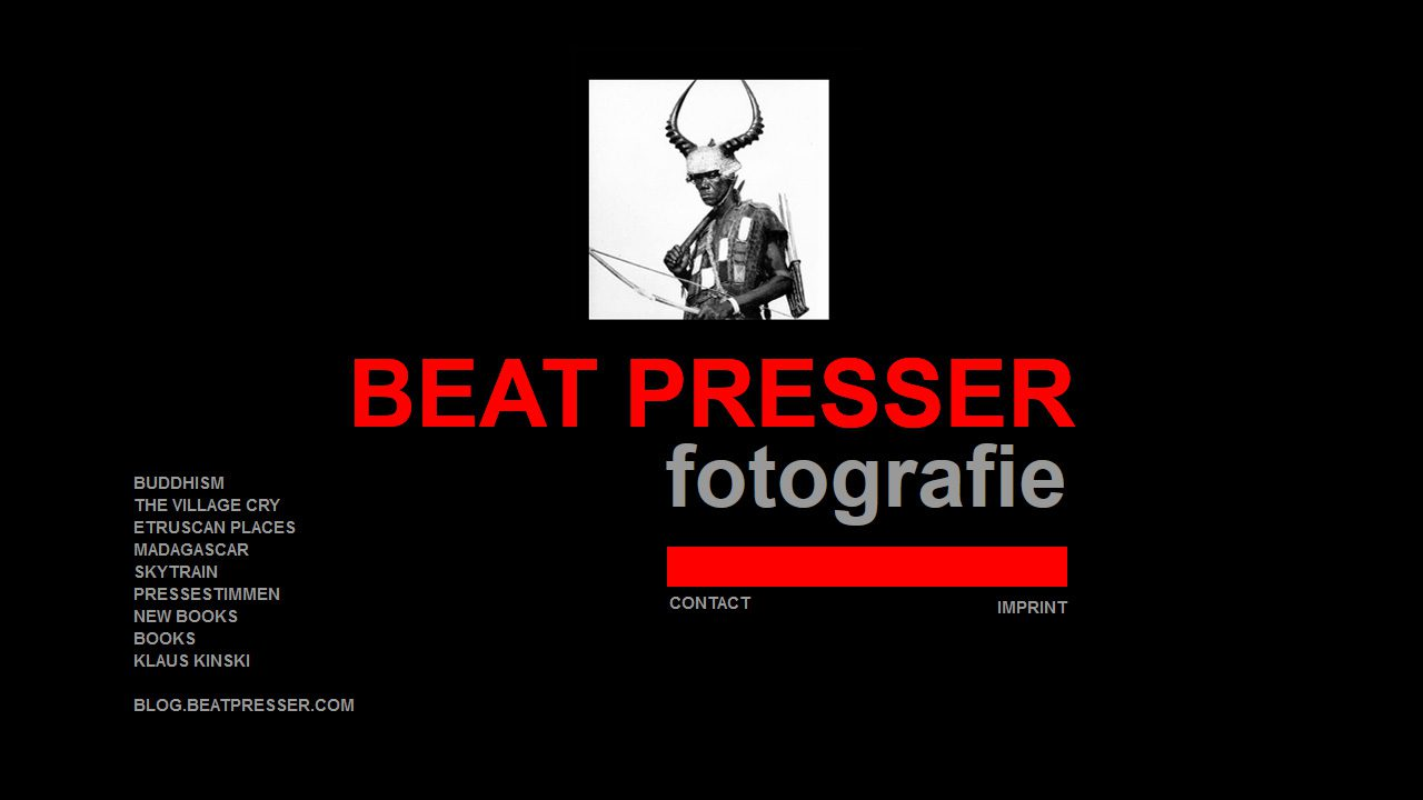 Bildschirmfoto Webdesign L Beat Presser – Fotografie