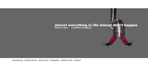 Bildschirmfoto Webdesign M Heinrich Lüber – Künstler-Website Einstiegsseite