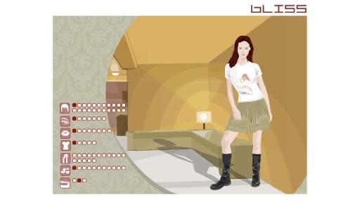 Screenshot des Games «Hello World» – Junge Frau welche gestyled und umgezogen werden kann