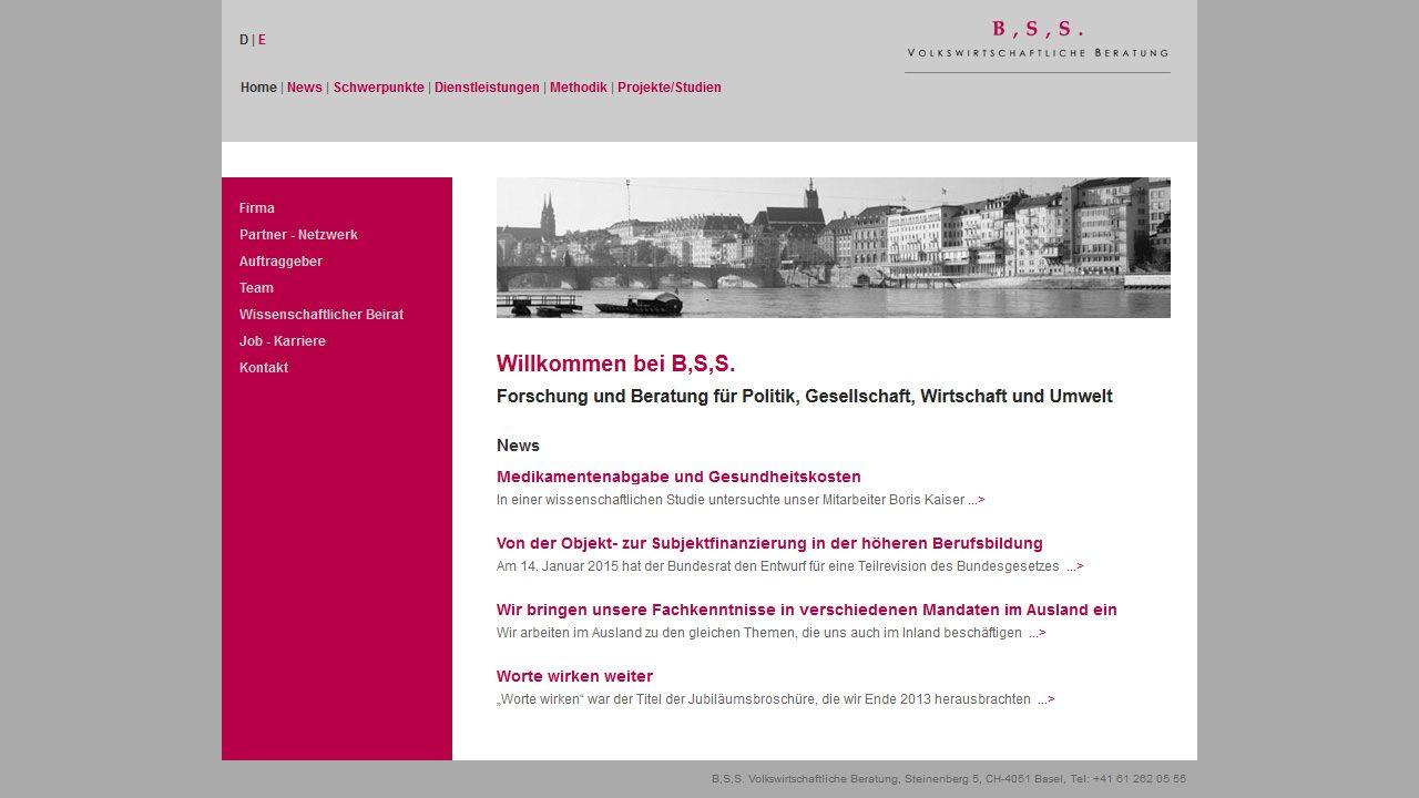 Bildschirmfoto Webdesign L B,S,S., Volkswirtschaftliche Beratung – Joomla Website