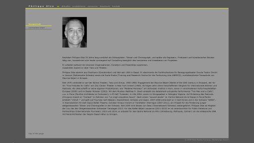 Bildschirmfoto Webdesign L Philippe Olza – Künstlerwebsite