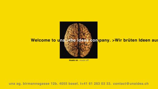Bildschirmfoto Webdesign XS Una Idea – Agentur-Homepage