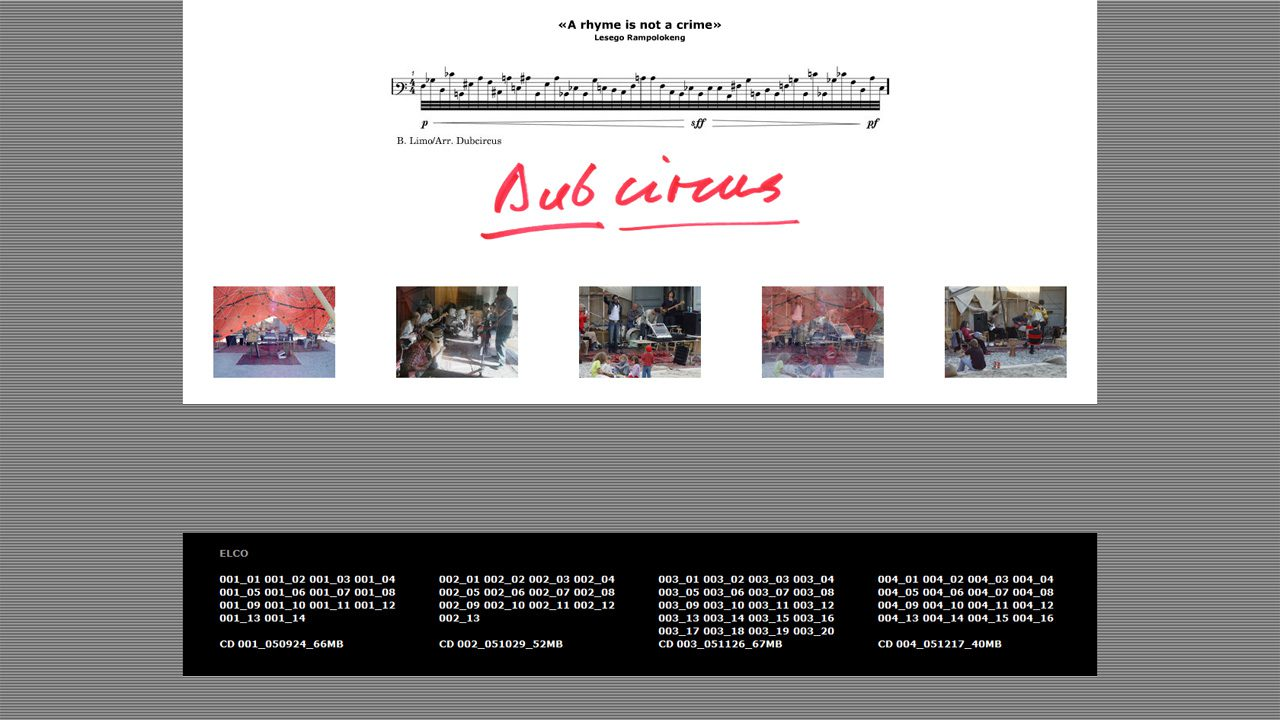 Bildschirmfoto Webdesign XS Dubcircus – Misik-Portal