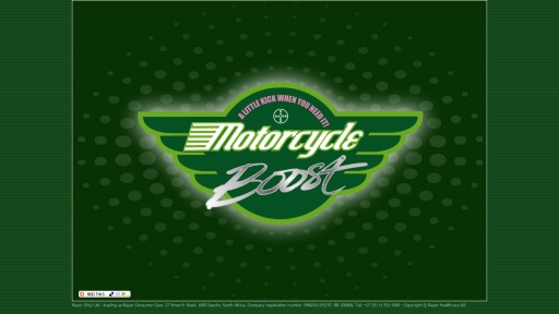 Screenshot Berocca Boost Motocross Flash Game – Schriftzug «Motorcycle Boost»