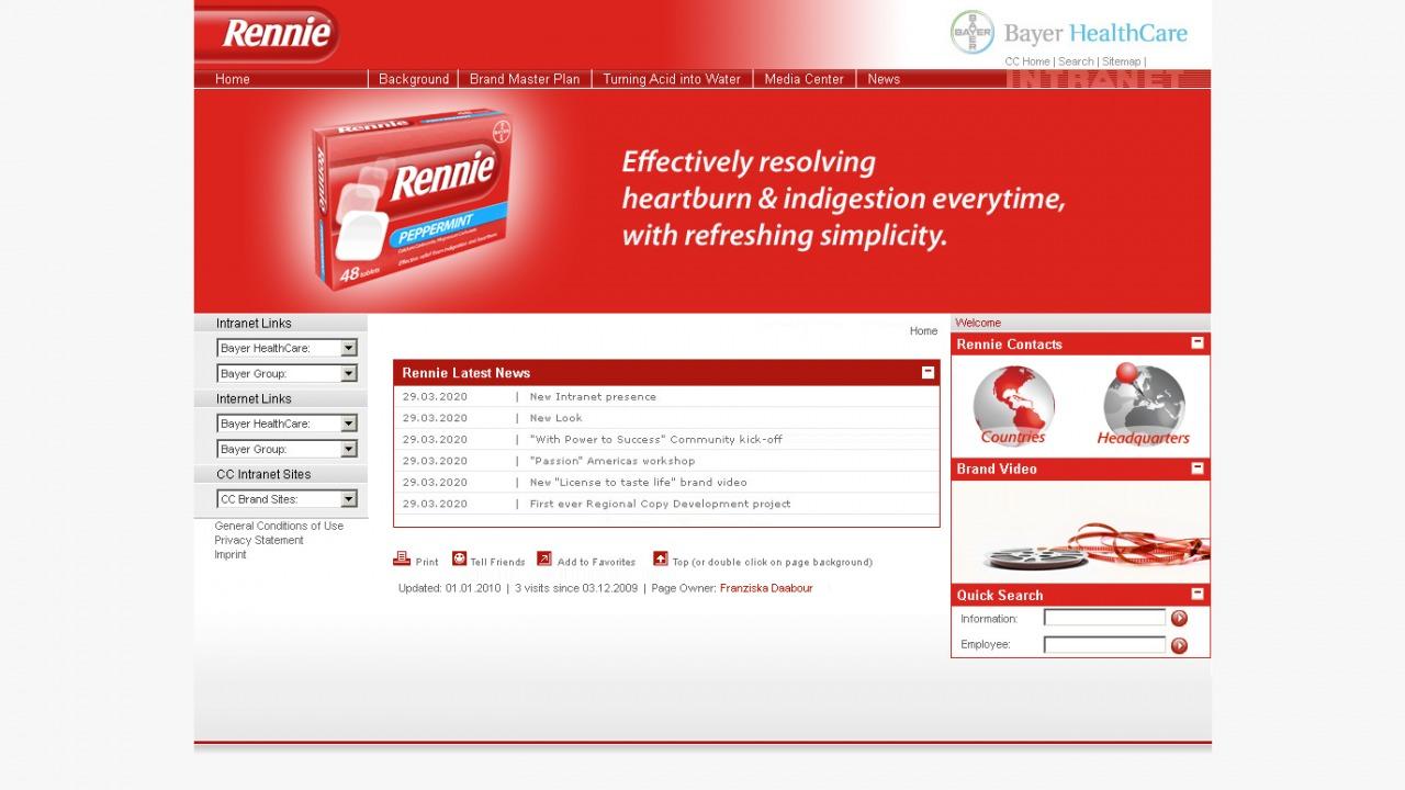 Bildschirmfoto Intranet Bayer Health-Care von Rennie