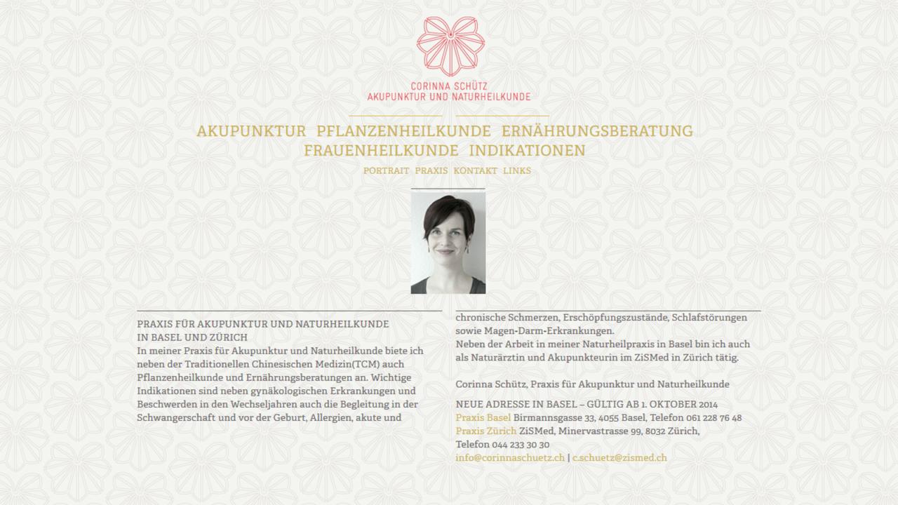 Bildschirmfoto Webdesign S Corinna Schütz – Ärzte-Website