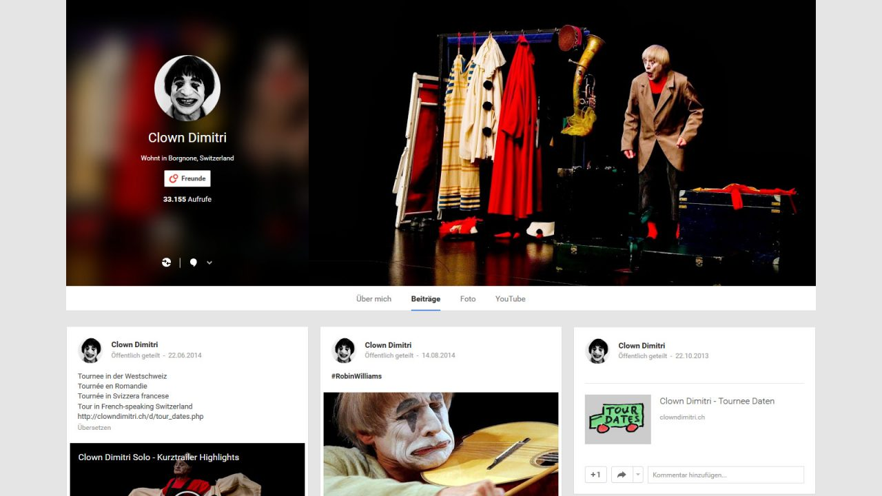 Clown Dimitri Social Media Marketing