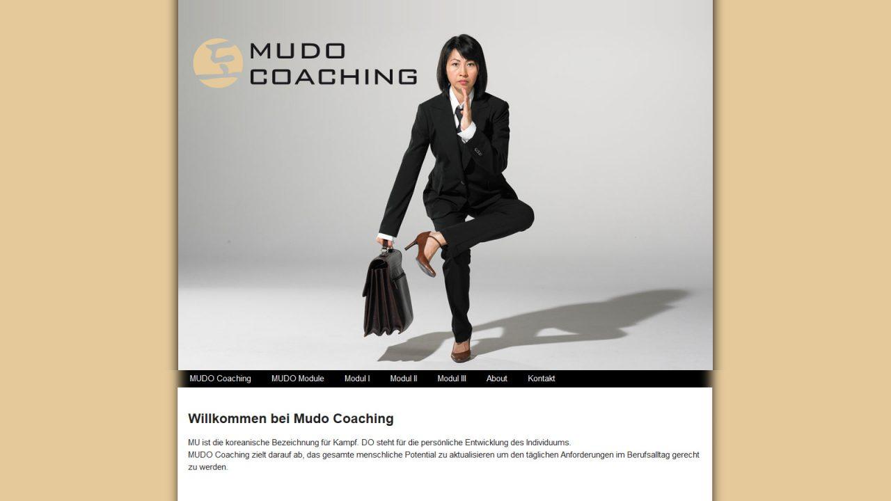 Bildschirmfoto Webdesign S Mudo Coaching Einstiegsseite