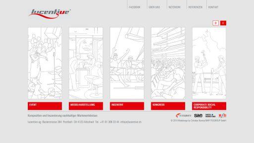 Bildschirmfoto Webdesign L Lucentive AG – Firmenwebsite