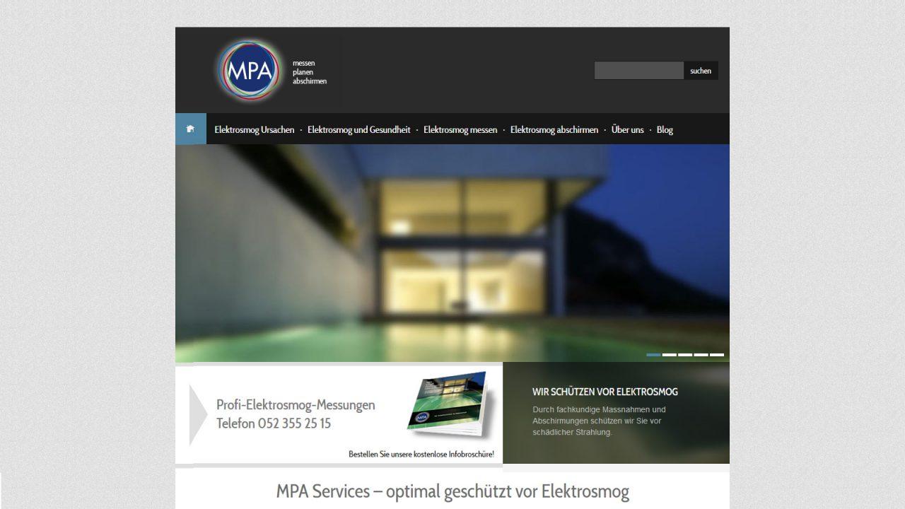 Bildschirmfoto Webdesign S MPA Einstiegsseite