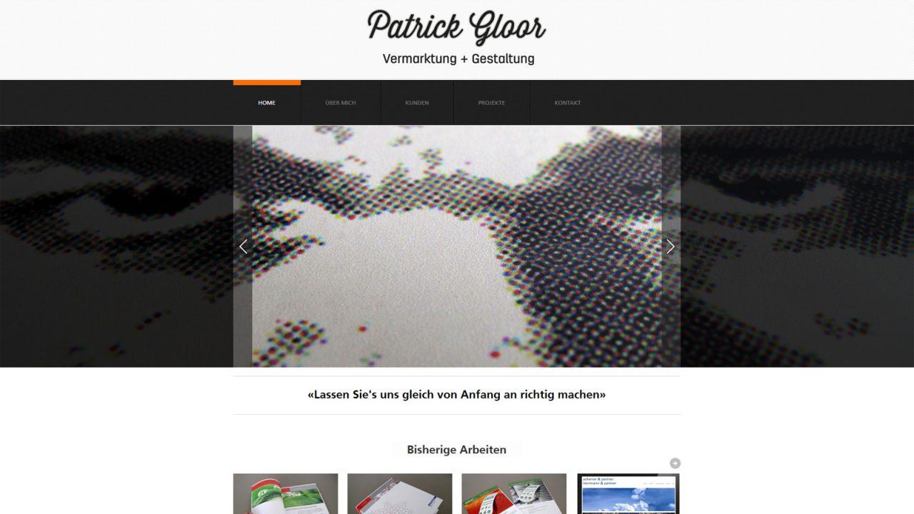 Bildschirmfoto Webdesign M Patrick Gloor– Agentur für Kommunikation Website
