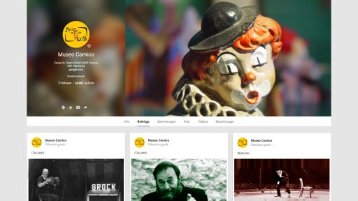 Bildschirmfoto Social Media Plattform Google+ von Museo Comico