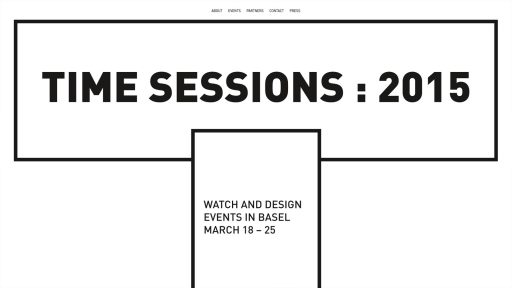 Bildschirmfoto Webdesign S Time Sessions – Event-Website Logo