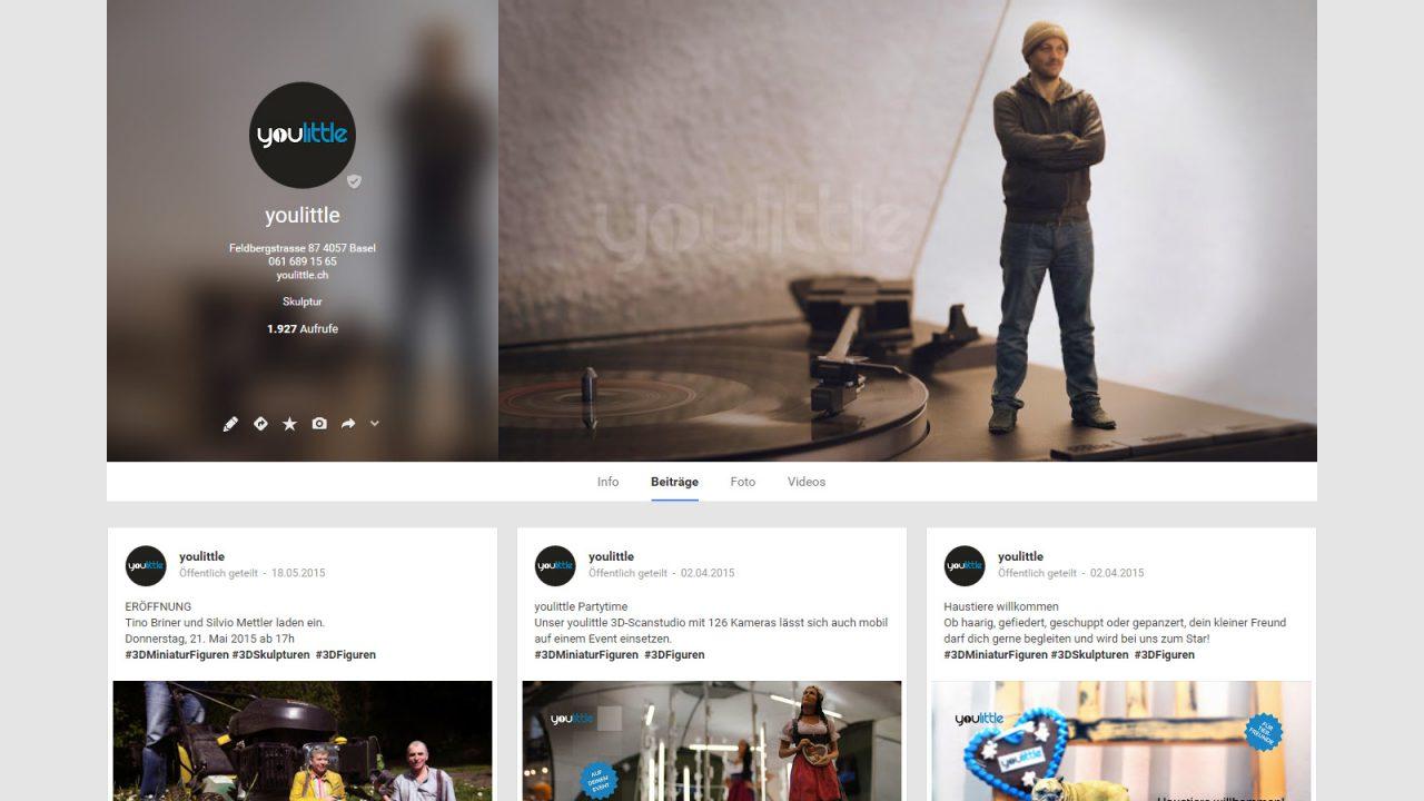 Bildschirmfoto Social Media Plattform Google+ von youlittle