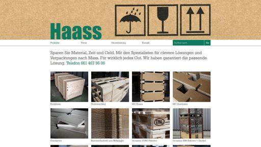 Bildschirmfoto Webdesign M Haass AG – Firmenwebsite Einstiegsseite