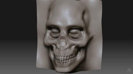 Seitenansicht 3D Modell modelliert mit ZBrush