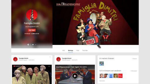 Bildschirmfoto Social Media Plattform Google+ von Famiglia Dimitri