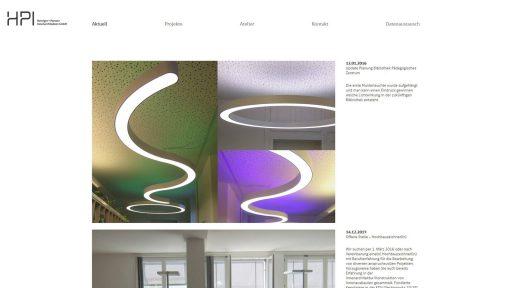 Bildschirmfoto Webdesign M HPI-Architekten Einstiegsseite